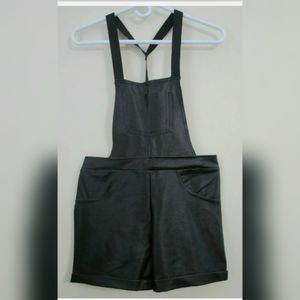 Weissman Costume Hip-Hop Black Overalls Size LC